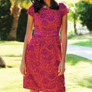 Boden Vibrant Pink Easy Day Dress Size 12